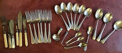 Joblot mixed Vintage Cutlery spoons forks knives Silver Plate Tea Room Hotel