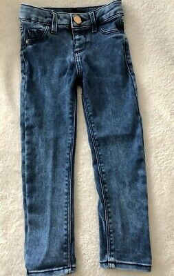 Girls River Island Blue Denim Skinny Jeans With Stretch Age 3 Years *FREE P&P*