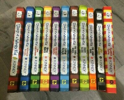 All Diary of a Wimpy Kid Book Lot Set of 1-11 Complete (9 HC, 2 SC) Jeff Kinney