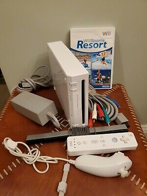 Nintendo Wii White System Replacement Console Only Backwards Compatible Tested