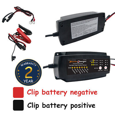Automatic Electronic Car Battery Charger 12V Fast/Trickle/Pulse Modes 2 4 8 AMP