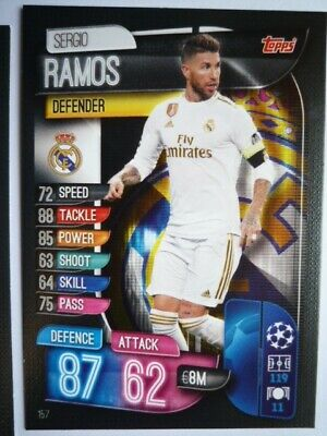 Topps Match Attax 2019/20 Real Madrid Ramos Card Comb P&P