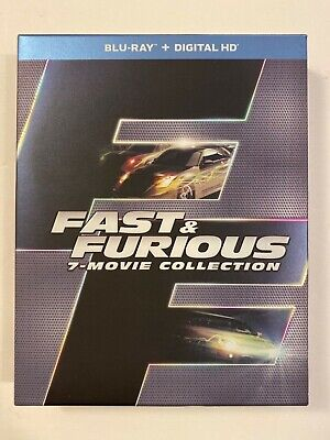 Fast & Furious 7-Movie Collection (Blu-ray + Digital HD, 2016, 8-Disc Set)