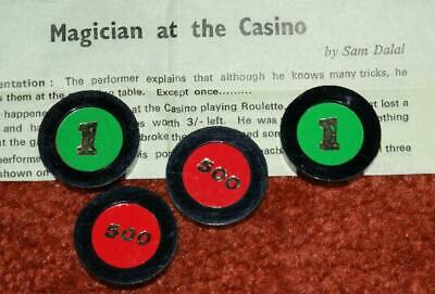 Magician at the Casino (vintage 1980s, Sam Dalal) -- changing chips trick   TMGS