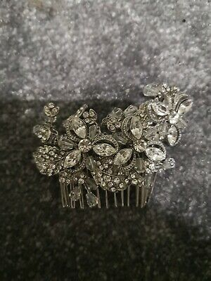 Ivory & Co Bridal crystal hair comb used in box