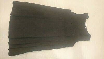 M&S Girls grey pinafore dress 7 Years