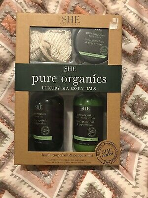 om she aromatherapy Pure Organics Spa Essentials Basil Grapefruit & Peppercorn