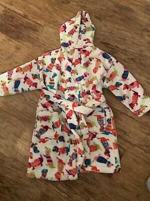 Girls Age 5-6 Years NEXT Hooded Snuggly Dressing Gown