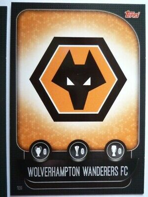 Topps Match Attax 2019/20 Wolves Team Badge Card Comb P&P