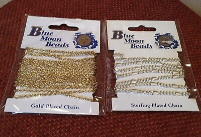 STERLING /  GOLD PLATED CHAIN by BLUE MOON BEADS