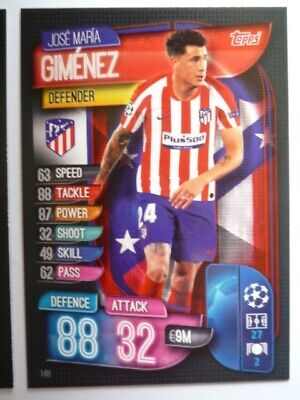 Topps Match Attax 2019/20 Athletico Madrid Gimenez Card Comb P&P