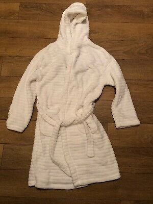Next Girls White Dressing Gown Size 9 To 10