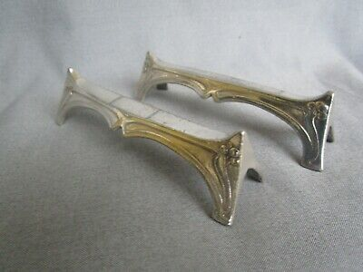 Pair of Antique Art Nouveau WMF Silver Plated Knife Rests c.1900