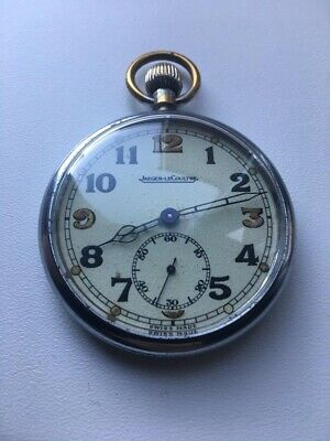 Jaeger-lecoultre Pocket Watch WW2 Military Case Stamped G.S.T.P 240972 Swiss