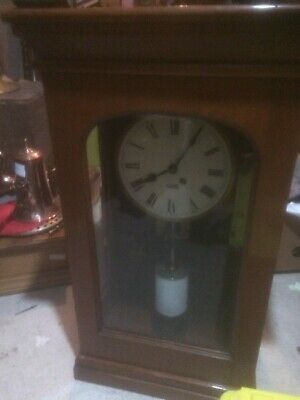 Mahogany Cased Fusee Recording Clock by Gent
