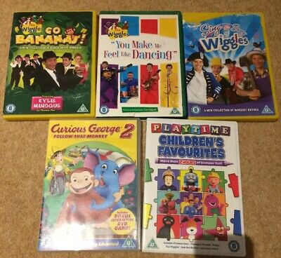The Wiggles DVDs X 3 + Children's Favourites W The Wiggles & Curious George DVDs