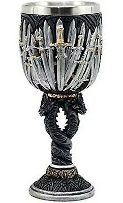 Game Of Thrones Twisted Dragons Iron Throne Swords Wine Goblet Christmas Gift