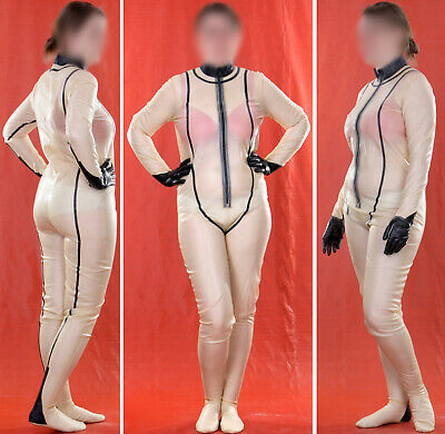 LATEX HEAVY RUBBER GUMMI CATSUIT GANZANZUG rubbersuit d05 XXL 46 48 50 0,5mm 1kg