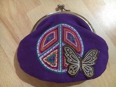 Claire's Purple Butterfly Purse