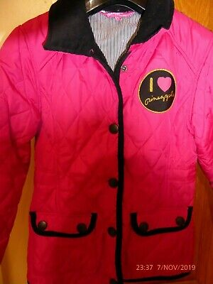 Pineapple girl's fuschia pink quilted jacket, aged 8-9 years