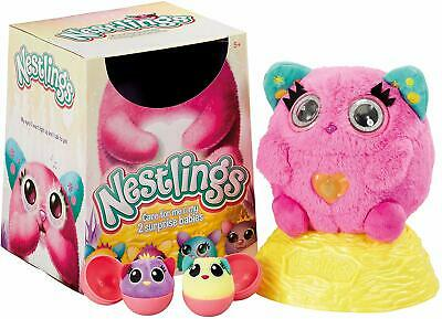 Nestlings Interactive Pet and Babies with Lights & Sounds - Pink - As Seen on TV