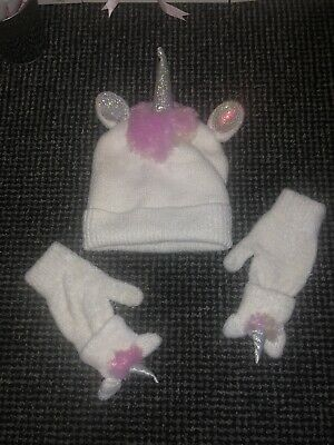 Girls Unicorn Winter Hat And Gloves - Claires Accessories Age 6-8