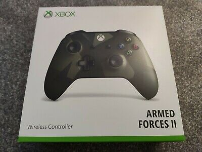 *Microsoft Official Xbox One Wireless Controller Armed Forces II / 2 New Sealed*