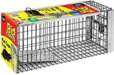 The Big Cheese Rat Cage Trap Large Humane Live-Catch Trap Use Indoors /Outdoors
