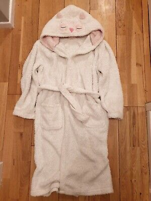 Girls F&F Hooded Owl Dressing Gown Age 13-14