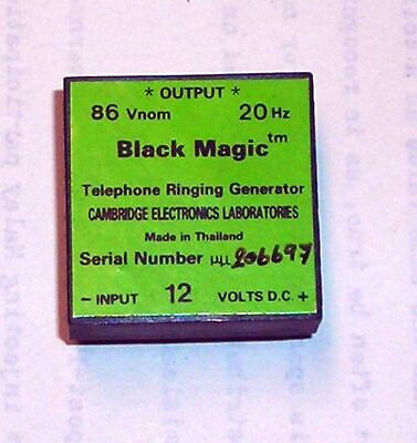 Black Magic Telephone Ringing Generator 12 V