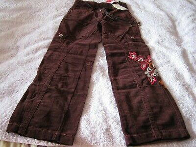 MARKS & SPENCER RRP£17 GIRLS age 9 BURGUNDY RED CORDS TROUSERS & BELT NEW TAGS