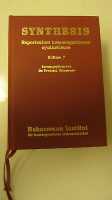 Synthesis Repertorium Homoeopathicum Syntheticum Edition 7 von 1998