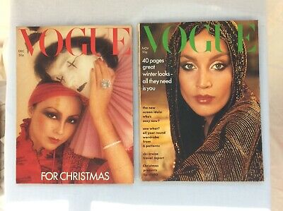 VOGUE UK vintage magazines  1975 - two editions Nov  and  Dec
