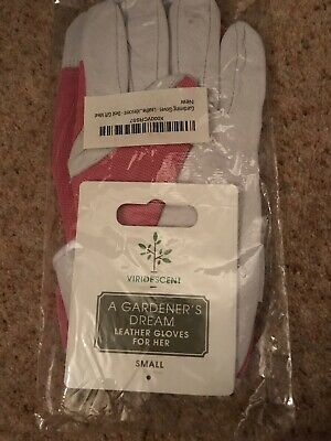 Leather Gardening Gloves - Ladies- Pink Slim-fit Work Gloves - Excellent Quality