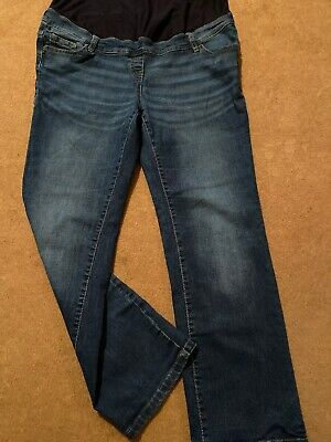 NEXT Maternity Blue Jeans. Size 16 Over The Bump Style