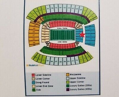 Browns vs Ravens NICE DAWG POUND Tickets (Set of 2) 12/22/2019