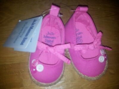 JoJo Maman Bebe Baby Girls Espadrilles Size 0-6 Months - New and tagged