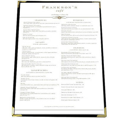 Large Bistro Cafe Menu A3 with 1 pocket