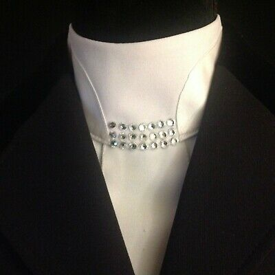 Dressage Stock Tie White with Easy Neck Closure (pre-tied)