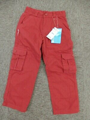 BNWT - Mountain Warehouse - Kids Cargo Trousers - Age 7-8 - Red - rrp £30