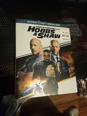 HOBBS & SHAW (BLU-RAY 2019 ONLY) Case+Artwork+Slipcovers INCLUDED