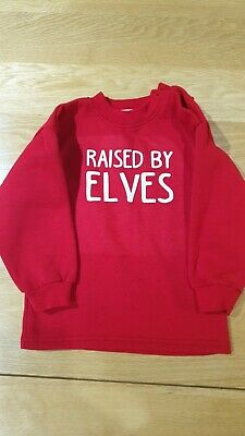 Kids Raised By Elves Jumper. Age 24-30 Months
