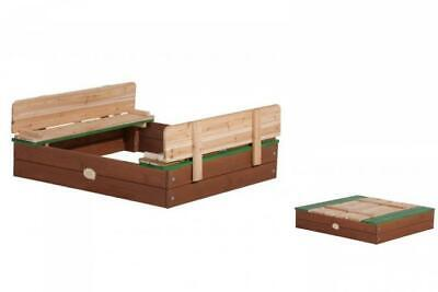 Holz-Sandkiste Axi Ella Sandpit with Covering 94 x 99 cm Lid Is Seats