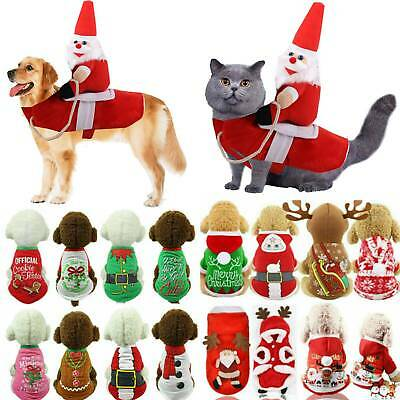 Christmas Dogs Sweaters Pet Knitwear Puppy Sweaters Apparel Xmas Small Large Cat