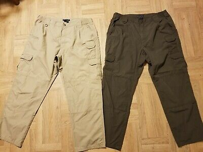 Mens 5.11 Tactical Series Cargo Pants size 40 x 32 - lot of 2 - style 74289US