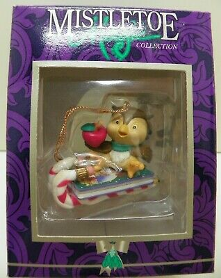 Mistletoe magic collection Christmas ornament Owl on Sled