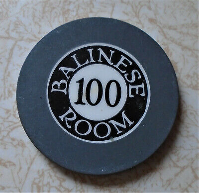 Obsolete, Early Balinese Room, Texas $100.00 Casino Chip