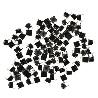 100 Pcs 6x6x4.5mm Panel PCB Momentary Tactile Tact Push Button Switch 4 Pin hnm