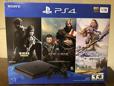 Sony PlayStation 4 PS4 Slim 1TB Console 3 Game Bundle- Ships Today