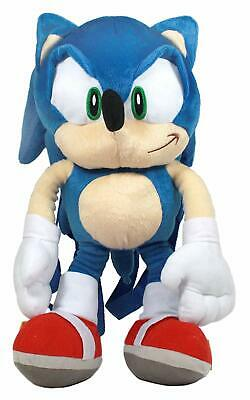 """Hedgehog Sonic 19"""" Soft Plush Doll Backpack. Authentic Brand New."""